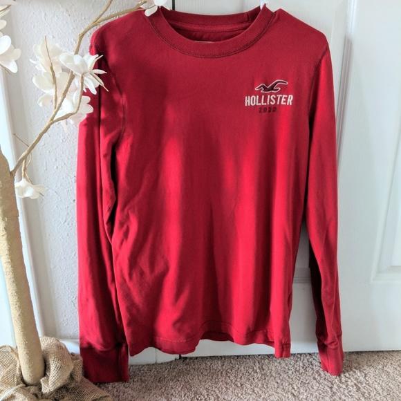 Hollister Other - Men's red Hollister long sleeve shirt size medium